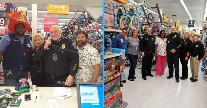 Police officers pay off expiring layaway accounts at Walmart