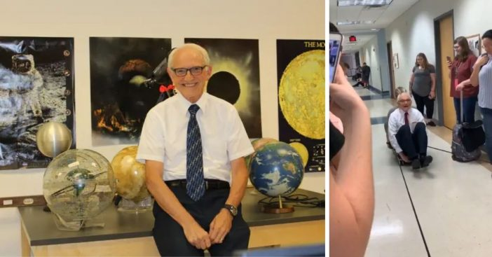 Professor Wright is thrilled his dream job gets people excited about science
