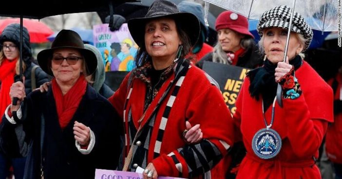 Sally Field arrested at Jane Fondas climate protest