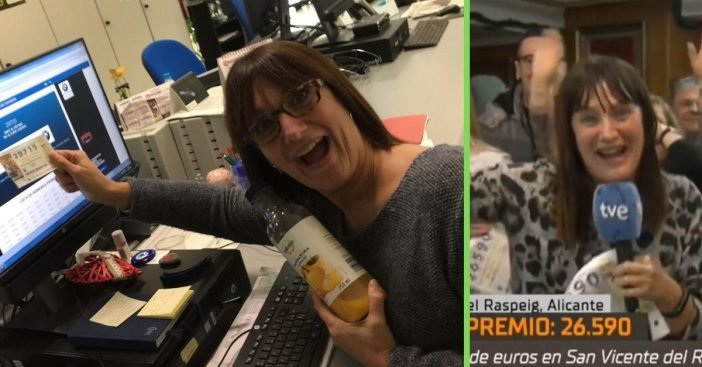 Spanish reporter wins lottery and quits job on air but realizes the prize is not much