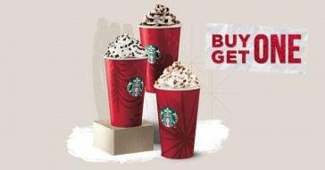 Starbucks is offering buy one get one free drinks in December