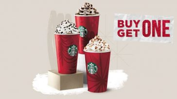 Starbucks is offering buy one get one free drinks in December