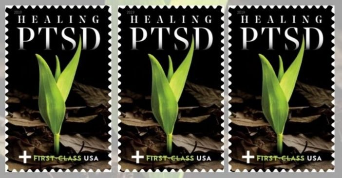 The US Postal Service released a new stamp for veterans with PTSD
