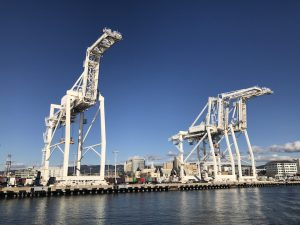 Using the Port of Oakland would require different infrastructure than what is already at the busy port