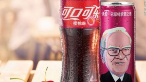 Warren Buffett is so known for drinking Coke, he's on cans of it in China
