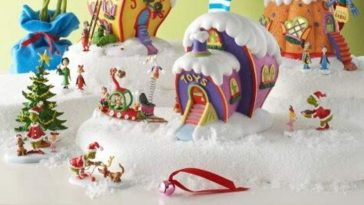 You can now purchase a Grinch ceramic Christmas village