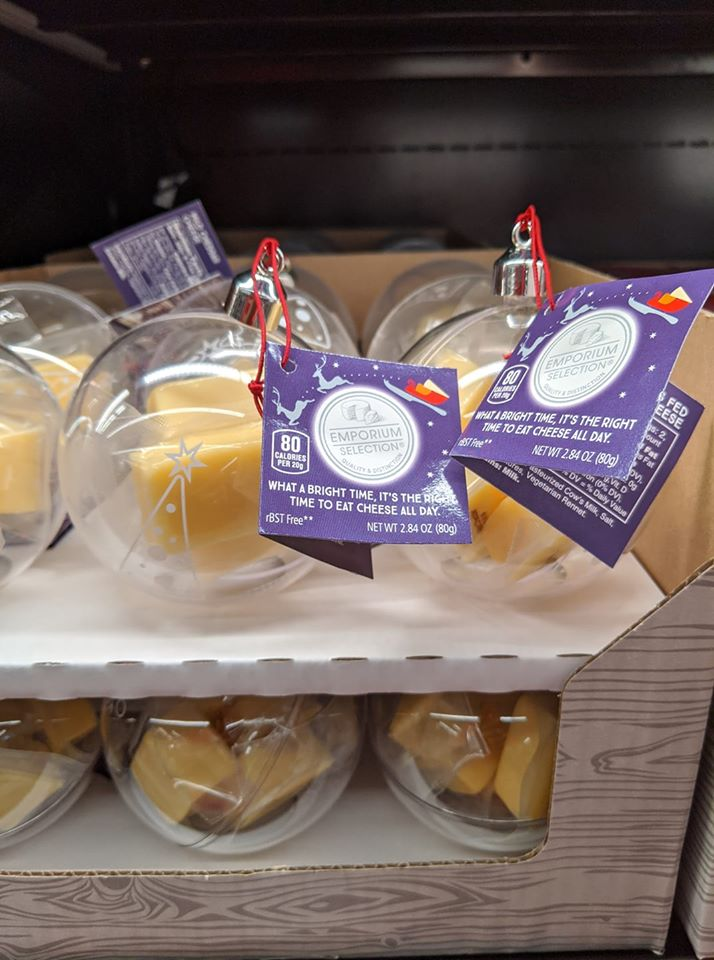 aldi cheese filled ornaments