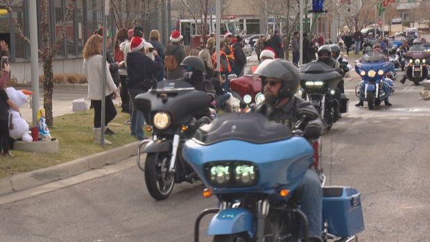 bikers donate toys to children's hospital