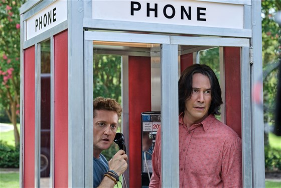keanu reeves alex winter phone booth bill and ted