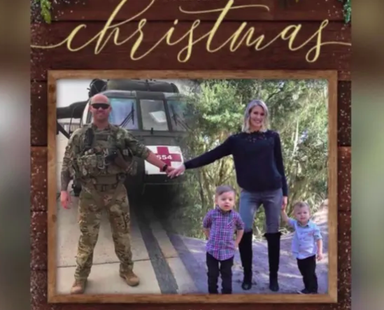 christmas card brings military family together for holidays