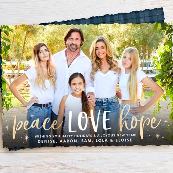 denise richards and charlie sheen's daughters look all grown up in christmas card photo