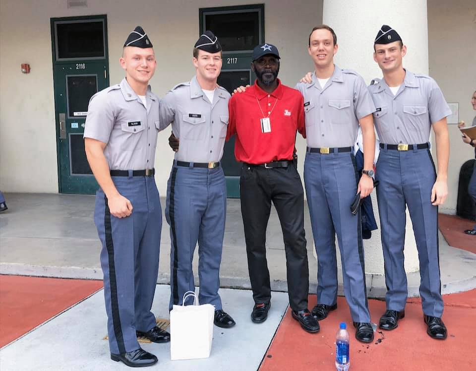 citadel cadets and janitor dwight holmes