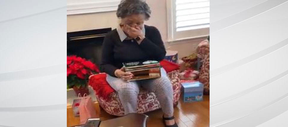 grandma surprised on christmas with old love letters from late husband