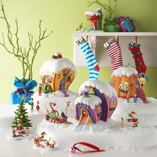 grinch themed ceramic christmas village