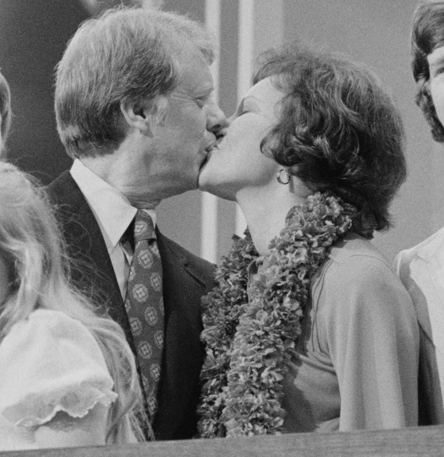 jimmy and rosalynn carter kissing