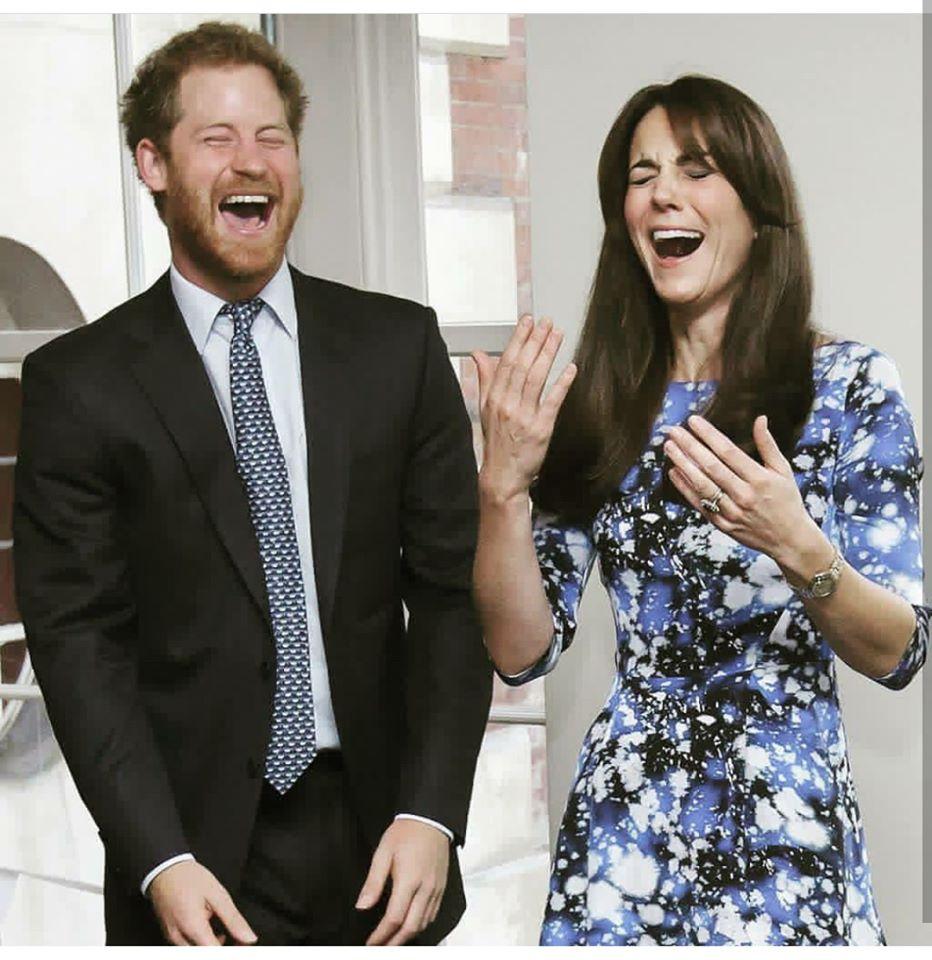 prince harry kate middleton laughing