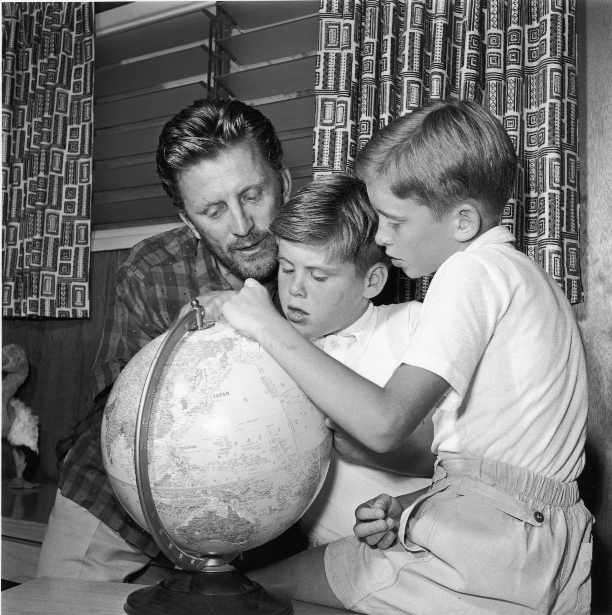 kirk douglas and sons joel and michael