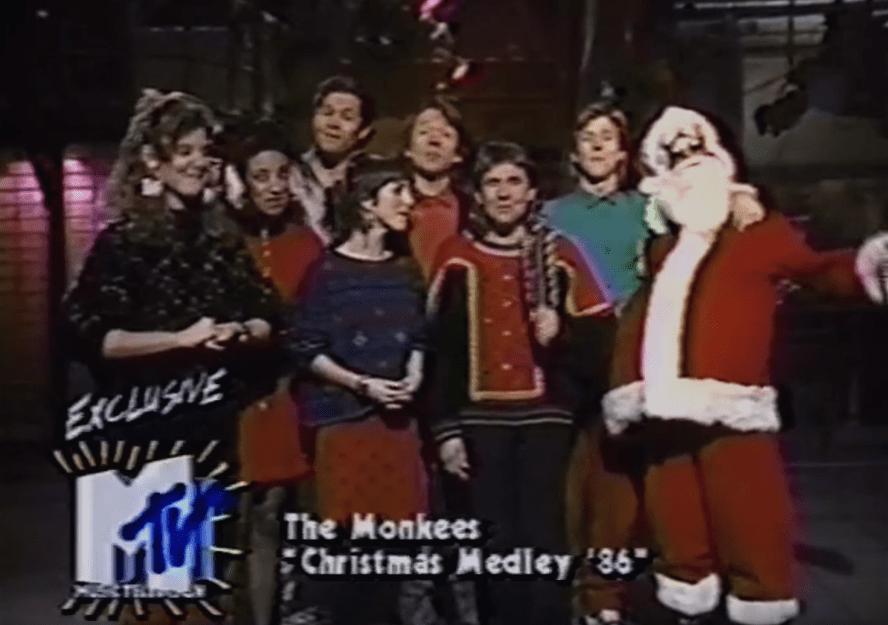 the monkees christmas medley mtv 1986