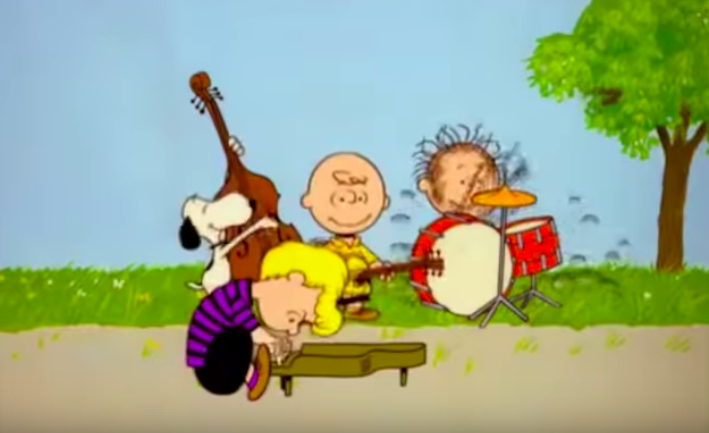 peanuts gang sings don't stop believin by journey