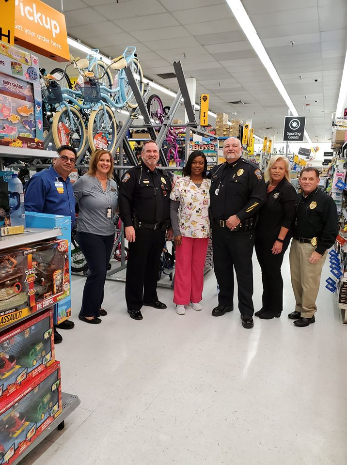 police officers and walmart employees
