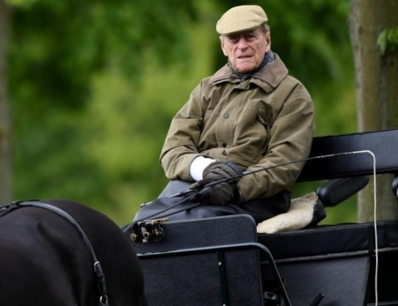 prince philip on a carriage