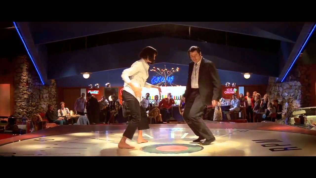 pulp fiction dance scene john travolta uma thurman