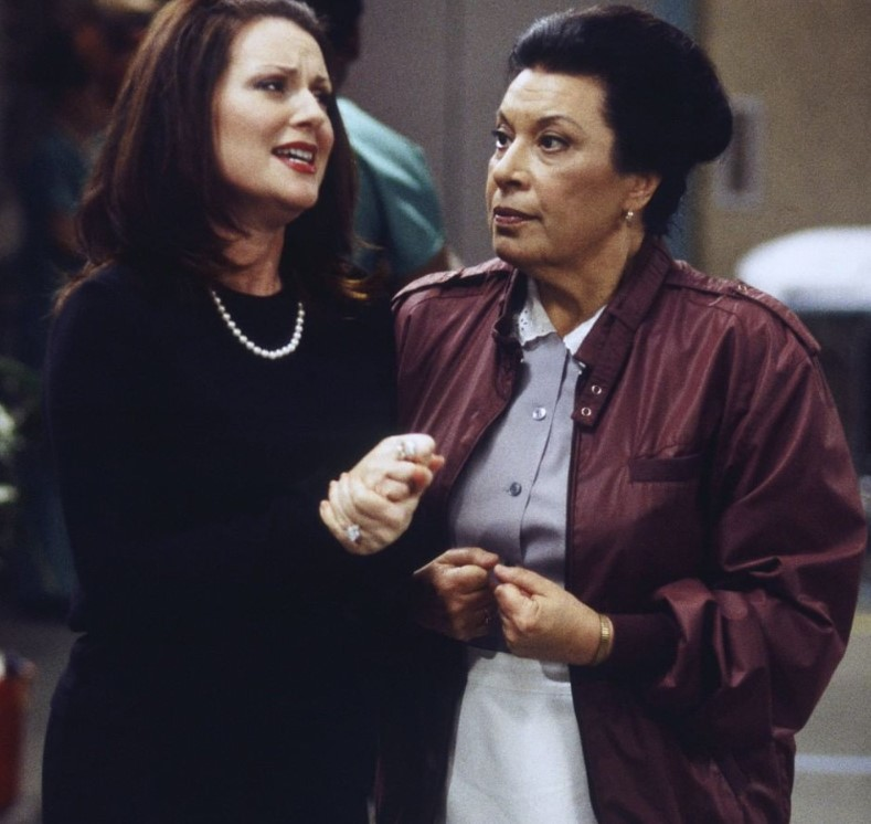 karen and Rosario Salazar megan mullally