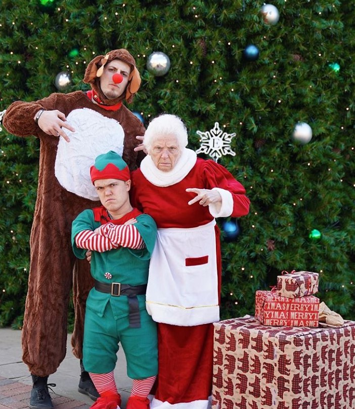 granny and ross smith christmas costumes