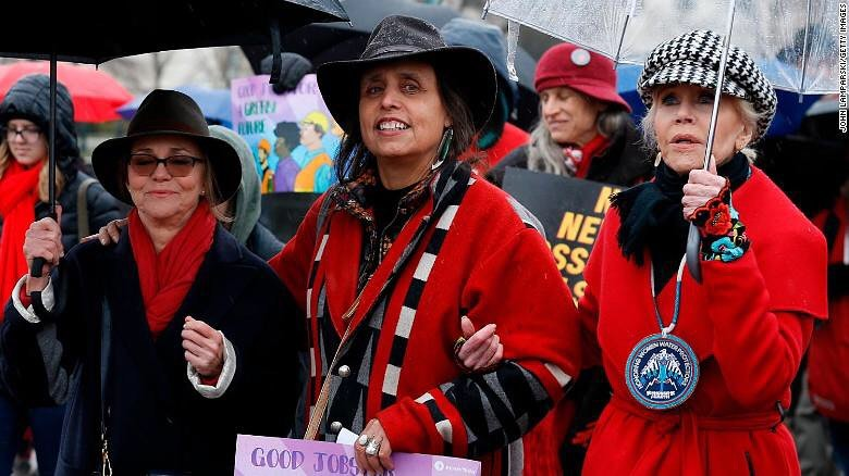 sally field and jane fonda climate protest
