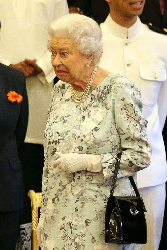 queen elizabeth funny face