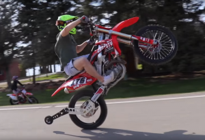 A Wheelie Bar made some moves a bit safer