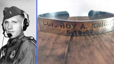 After keeping her inscribed bracelet for years, one woman finally saw a fallen soldier return home