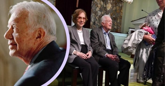 After undergoing brain surgery, Jimmy Carter is back in his hometown church