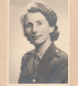 Anne Robson served in the women's branch of the British army and utilized her skill as a physiotherapy teacher