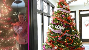 Barry Williams Puts Twist On Old Christmas Tree With 'Valentine's Day Tree'