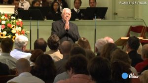 Carter has taught over 600 Sunday school lessons since stepping down as president