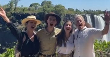 Catherine Zeta Jones and Michael Douglas took kids to Zanzibar for the holidays