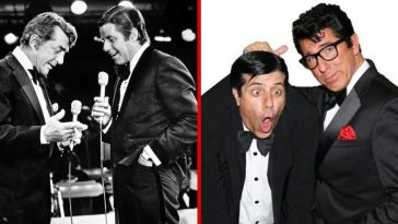 Dean Martin and Jerry Lewis presented perfect contrasts in their comedy sketches