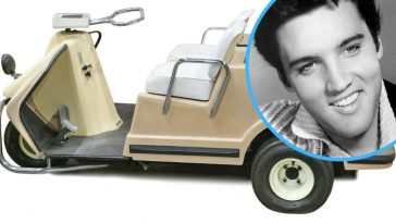 Elvis Presley Harley Davidson golf cart is up for auction