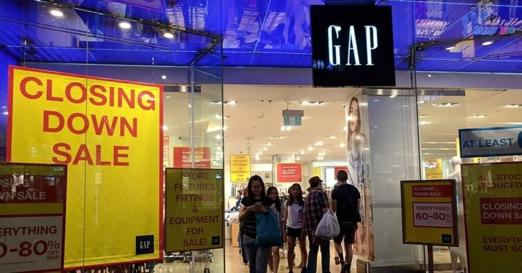 Gap just closed about 40 of their store locations worldwide