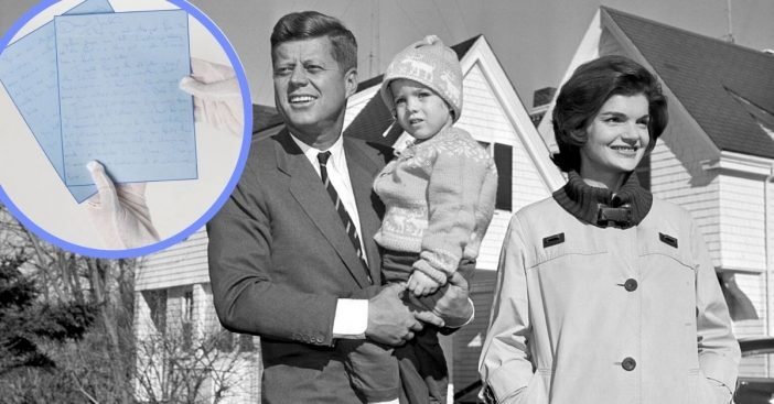 Historians celebrate the return of this letter by Jackie Kennedy to her husband