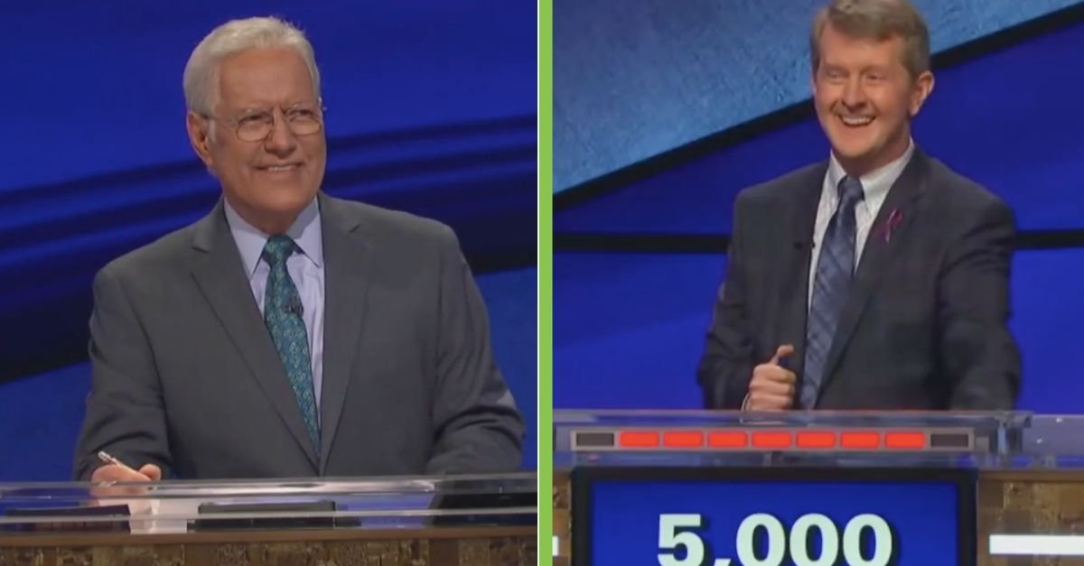 Jeopardy! Goat >> Ken Jennings Says Ok Boomer To Alex Trebek During