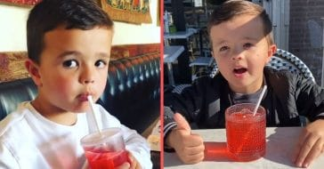 Little boy reviews Shirley Temple drinks from different restaurants