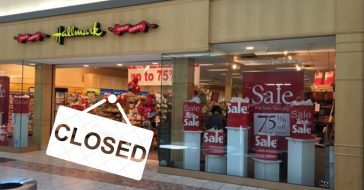 Many Hallmark locations are closing around the country