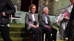 Rosalyn and Jimmy Carter returned to his hometown church as soon as the former president felt well enough to safely do so