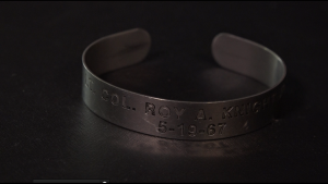 Shannon Miller religiously wore Col. Knight's POW/MIA bracelet until he returned home