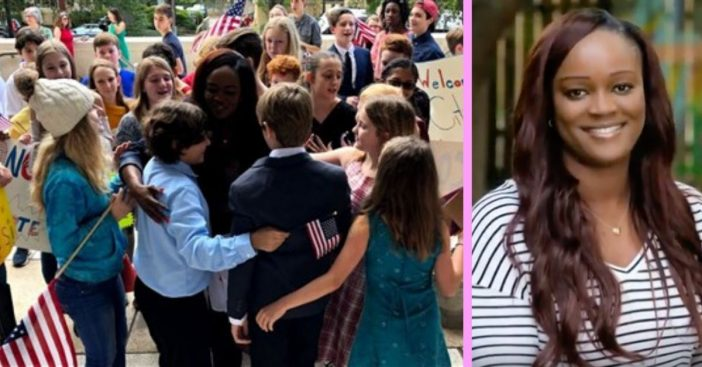 Teacher Becomes A U.S. Citizen With The Support And Love Of Her Students