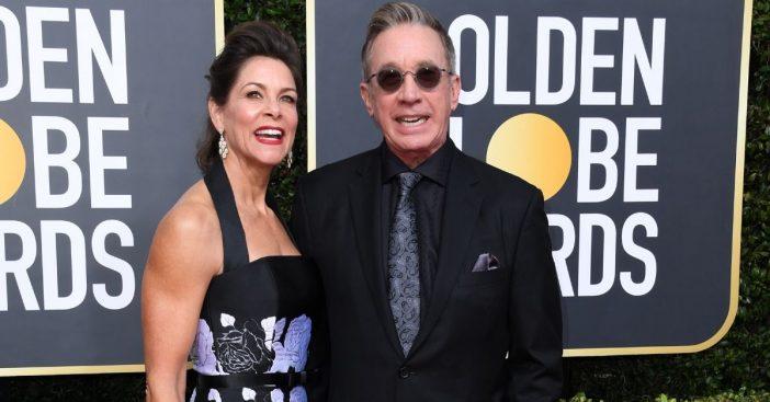 Tim Allens wife Jane Hajduk joins him at the 2020 Golden Globes