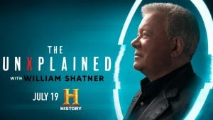 Until he makes his space debut, William Shatner will be on the documentary UnXplained