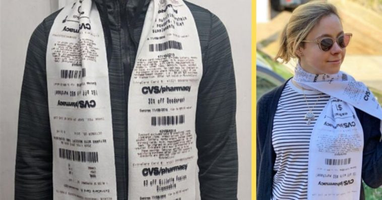 You Can Now Purchase Scarves That Look Like An Obnoxiously Long CVS Receipt